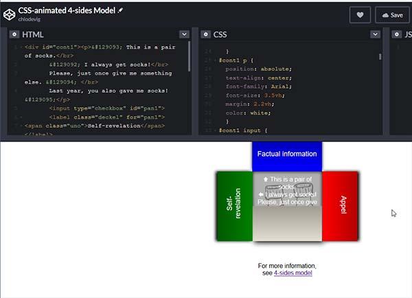 Screenshot von CodePen